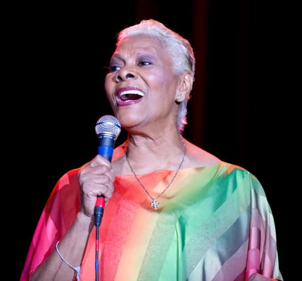 Five-time Grammy Award winner Dionne Warrick performs on stage at Route 66 Casinos Legends Theater on February 15, 2014 in Albuq