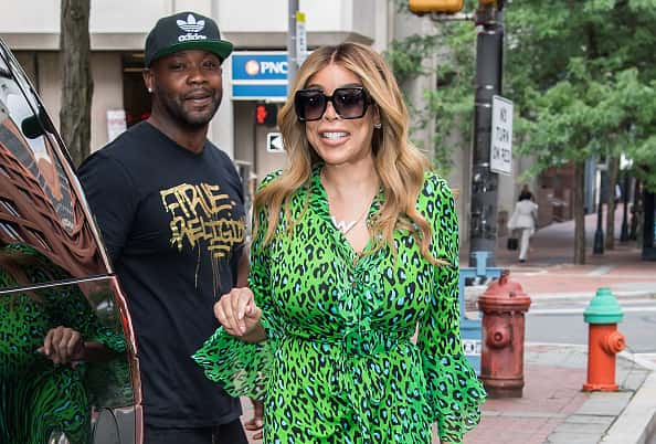 Television host, fashion designer Wendy Williams is seen leaving Fox 29's 'Good Day' at FOX 29 Studios
