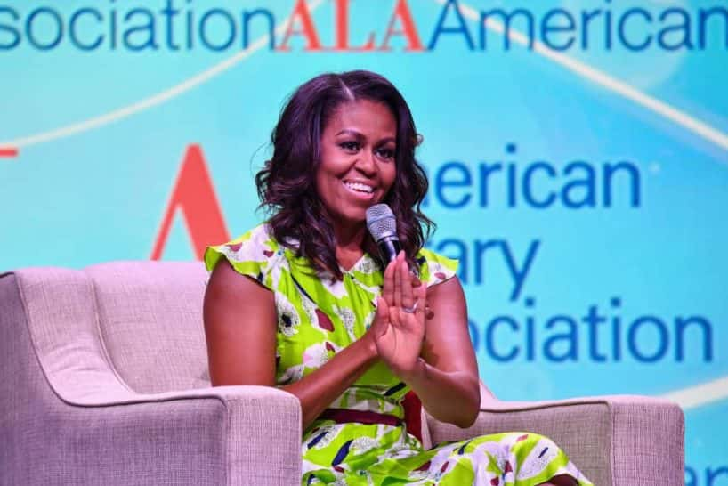 Former First Lady of the United States Michelle Obama speaks during the Opening General Session