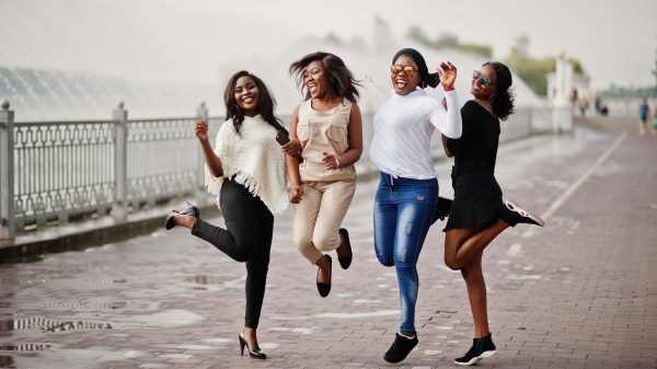 Black women having fun