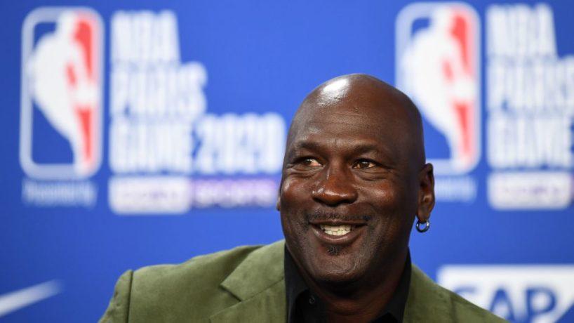 Michael Jordan smiling at the camera