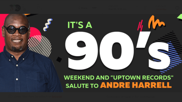"It's a 90's Weekend and ""Uptown Records"" Salute to Andre Harrell flyer"