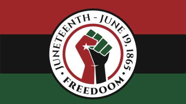 Juneteenth image with fist