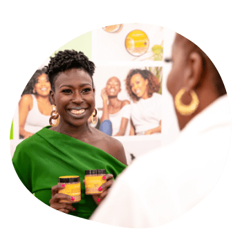 Black Woman-Owned Vendor Booth at Circle of Sisters 2019