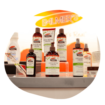 Palmer's Product Booth at Circle of Sisters 2019