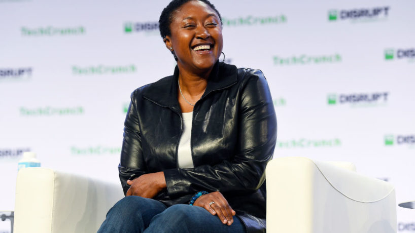 SAN FRANCISCO, CALIFORNIA - OCTOBER 03: Zoox CEO Aicha Evans speaks onstage during TechCrunch Disrupt San Francisco 2019 at Moscone Convention Center on October 03, 2019 in San Francisco, California.