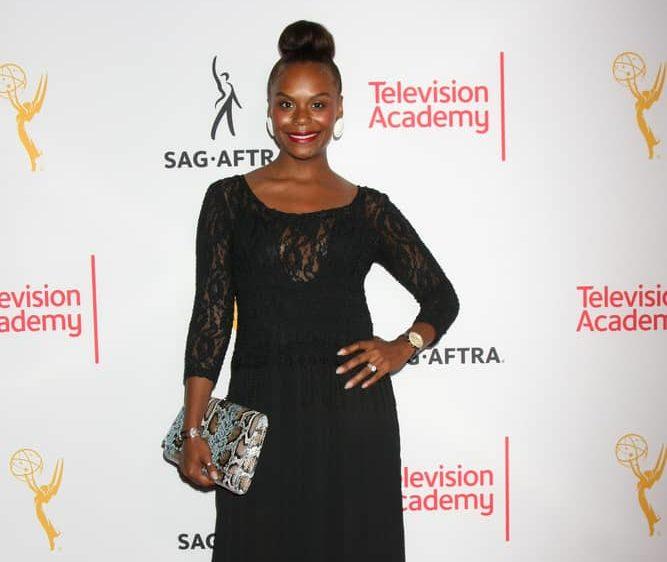 Tabitha Brown wearing black