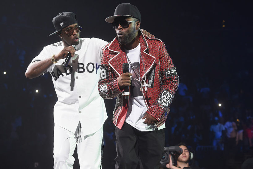 """NEW YORK, NY - MAY 20: Sean ""Diddy"" Combs aka Puff Daddy (L) and Black Rob perform onstage during the Puff Daddy and The Family Bad Boy Reunion Tour presented by Ciroc Vodka And Live Nation at Barclays Center on May 20, 2016 in New York City."