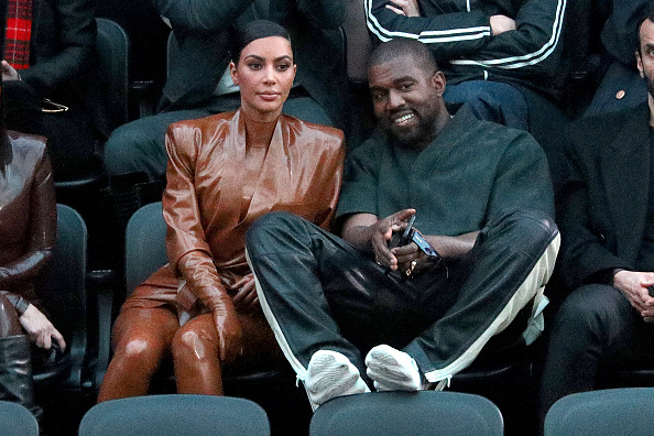 PARIS, FRANCE - MARCH 01: (EDITORIAL USE ONLY) Kim Kardashian and Kanye West attend the Balenciaga show as part of the Paris Fashion Week Womenswear Fall/Winter 2020/2021 on March 01, 2020 in Paris, France.