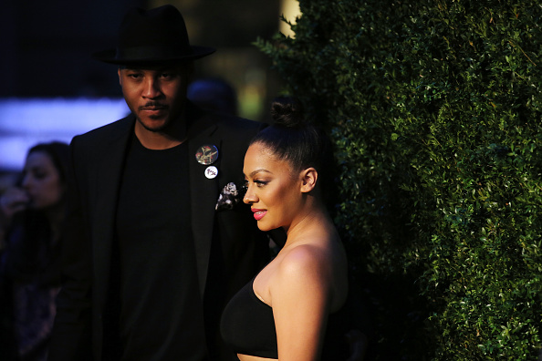 NEW YORK, NY - APRIL 18: Carmelo Anthony and La La Anthony attend the 11th Annual Chanel Tribeca Film Festival Artists Dinner at Balthazar on April 18, 2016 in New York City. (Photo by Jemal Countess/Getty Images)