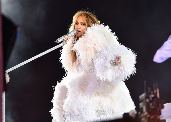 Jennifer Lopez performs during New Year's Eve 2021 in Times Square on December 31, 2020 in New York City.