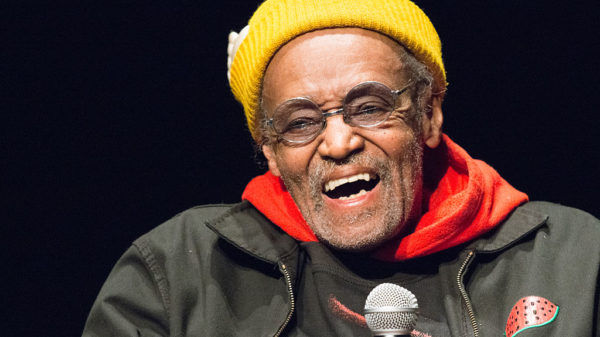 NEW YORK, NY - MARCH 16: Director/Filmmaker Melvin Van Peebles speaks during the 6th Annual Queens World Film Festival at the Museum of the Moving Image on March 16, 2016 in New York City.