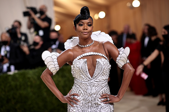 Gabrielle Union attends The 2021 Met Gala Celebrating In America: A Lexicon Of Fashion at Metropolitan Museum of Art on September 13, 2021 in New York City.