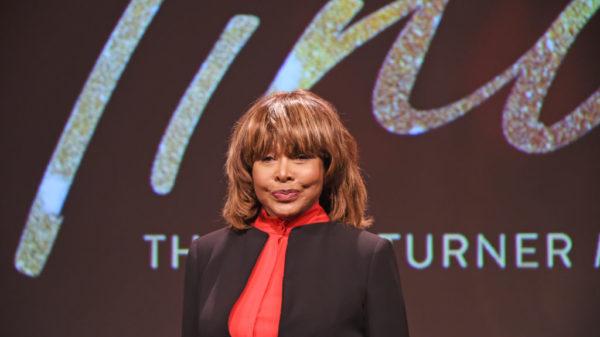 "LONDON, ENGLAND - OCTOBER 17: Tina Turner poses at a photocall for ""Tina: The Tina Turner Musical"" at The Hospital Club on October 17, 2017 in London, England."