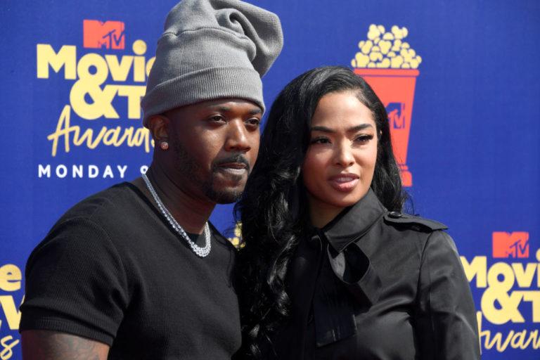 SANTA MONICA, CALIFORNIA - JUNE 15: Ray J and Princess Love attend the 2019 MTV Movie and TV Awards at Barker Hangar on June 15, 2019 in Santa Monica, California.