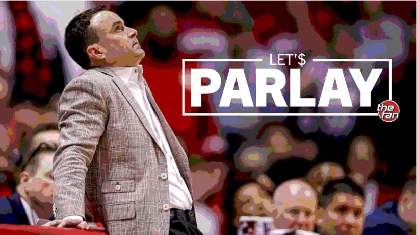 Let's Parlay, The Fan, Archie Miller leaning against the scores table
