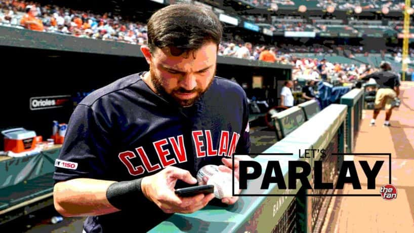 Let's Parlay, The Fan, Jason Kipnis looking at phone before a baseball game