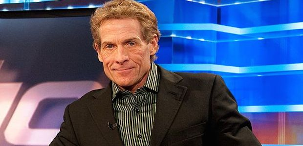 Talk show host Skip Bayless poses for a picture.