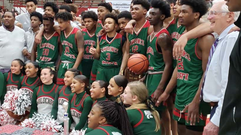 Lawrence North clinched their ninth Marion County Tournament title with a 51-46 win over crosstown rival Lawrence Central.