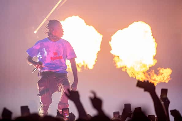 Travis Scott performs at The Forum on December 19, 2018 in Inglewood, California.