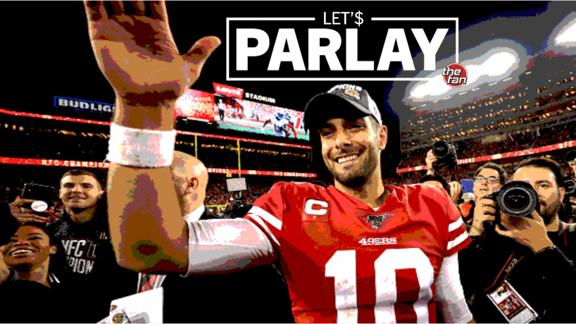 Let's Parlay, The Fan, Jimmy Garappolo waiving to fans after NFC Championship win