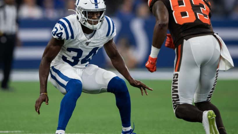 Colts cornerback Rock Ya-Sin lines up for a snap during the 2019 preseason.