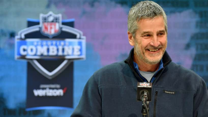 Colts head coach Frank Reich meets the media at the 2020 Combine.