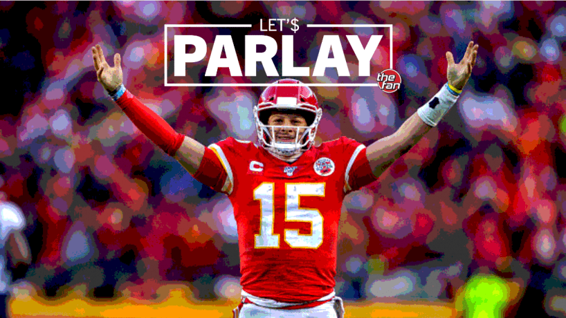 Let's Parlay, The Fan, Patrick Mahomes raising hands to signal a touchdown