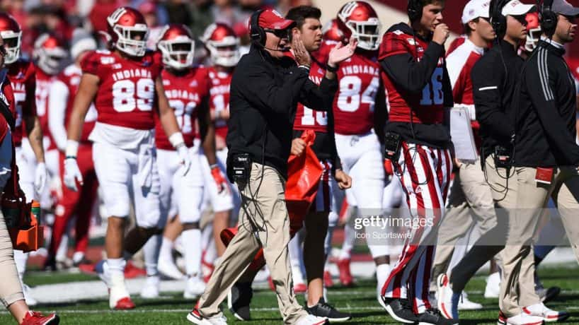 Indiana Hoosiers head coach Tom Allen during IU's game against Rutgers