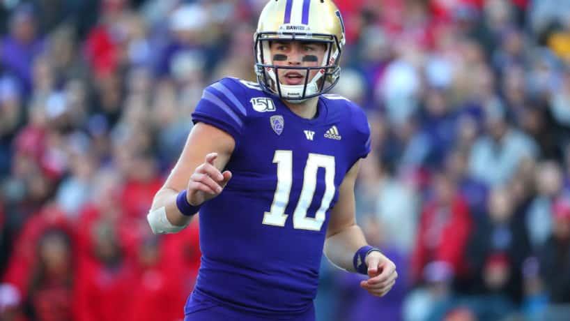 University of Washington quarterback Jacob Eason