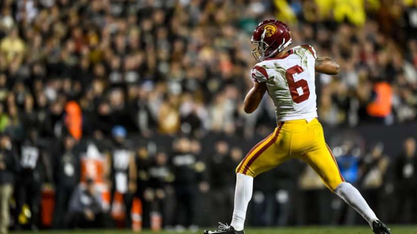 USC's Michael Pittman, Jr. catches a pass