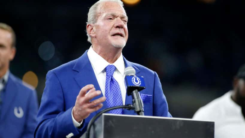 Jim Irsay speaking at Colts Ring of Honor ceremony