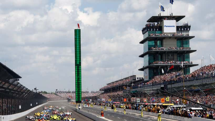 Indianapolis motor speedway front stretch