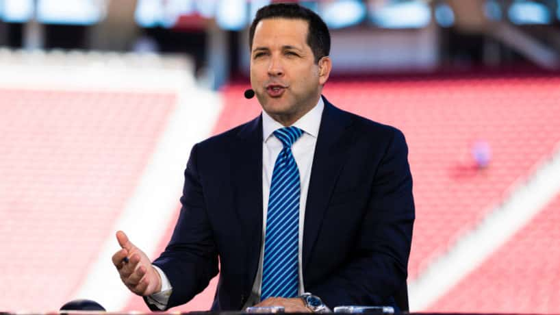 ESPN Monday Night Football Studio Analysts Adam Schefter during the NFL regular season football game between the Cleveland Browns and the San Francisco 49ers