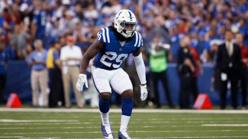 Colts safety Malik Hooker backpedals in coverage during the 2019 season.