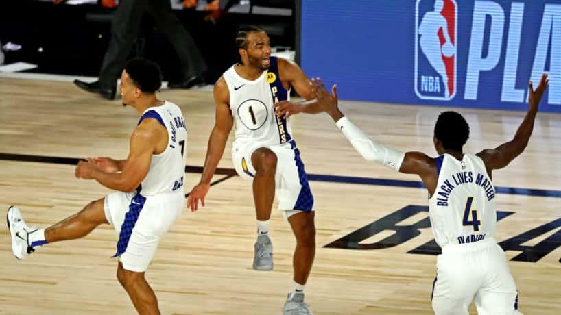 Malcolm Brogdon, TJ Warren, and Victor Oladipo Dancing on the court