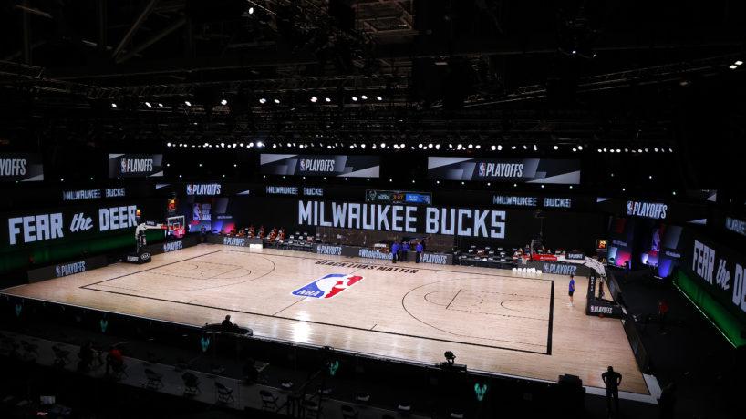 Empty court in orlando bubble