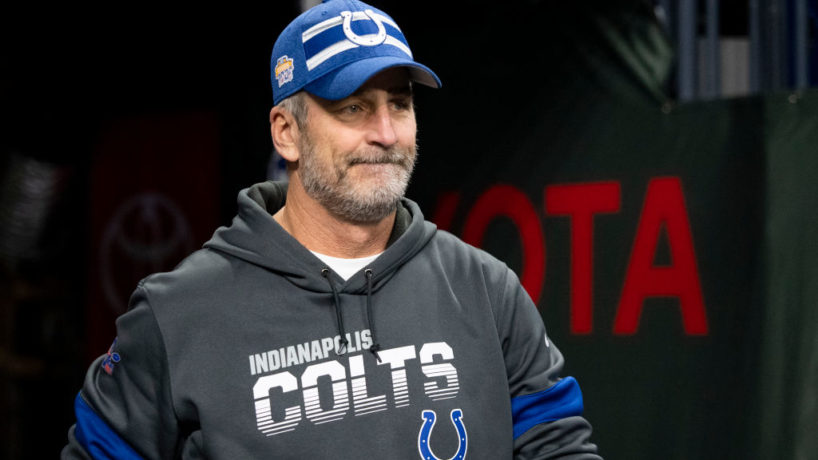 Colts head coach Frank Reich walks out of the tunnel in 2019.