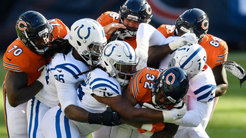 The Colts defense makes a stop in Week Four.