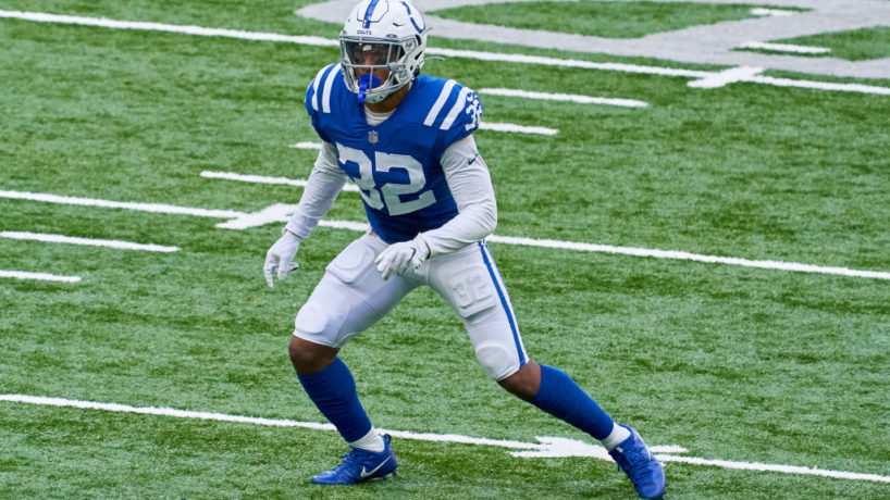 Colts safety Julian Blackmon lines up in the open field.