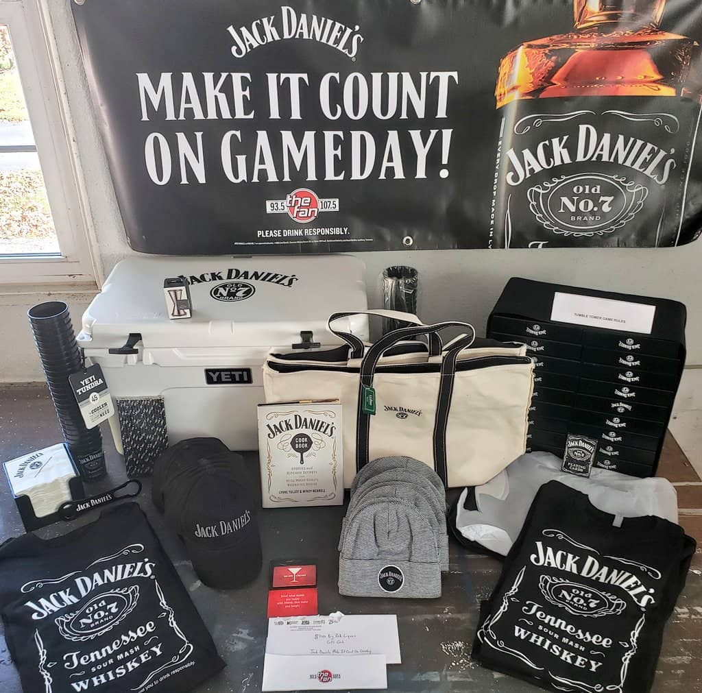 Jack Daniels Game Day prize pack