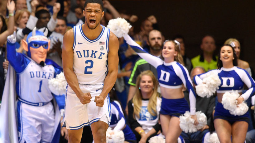 New Pacers G-Cassius Stanley reacts after a bucket at Duke.