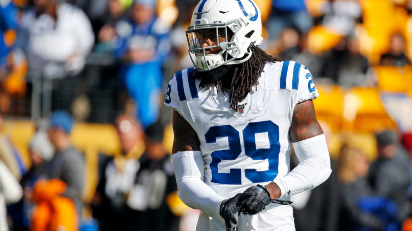 Colts S-Malik Hooker gets ready for a play.