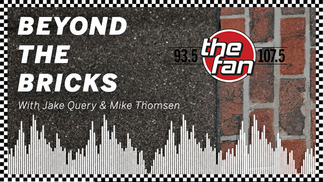 A graphic for Beyond The Bricks on the pavement from the IMS