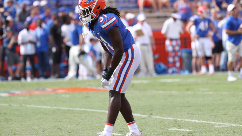 Colts S-Shawn Davis lines up for a snap in college at Florida.