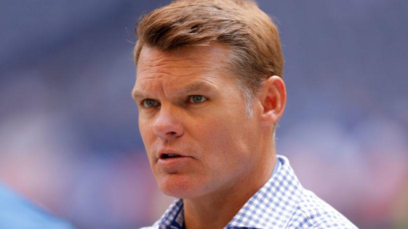 Colts GM-Chris Ballard looks on before a game.