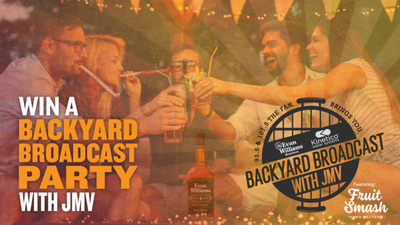 Register for a chance to win a backyard brodcat party in your own backyard