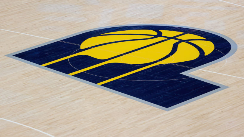 Pacers Logo on the floor