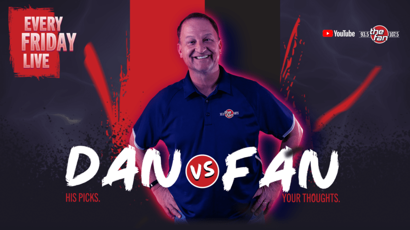 Dan Dakich makes picks against the spread vs one lucky listener each week on DAN VS FAN!