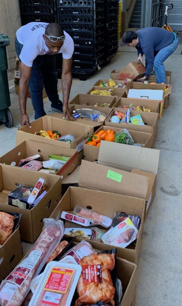 Food donations being collected